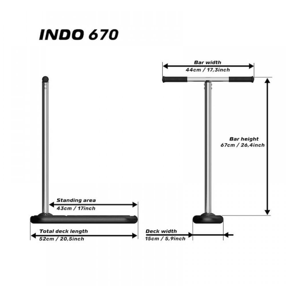 Indo X70 trampolin løbehjul