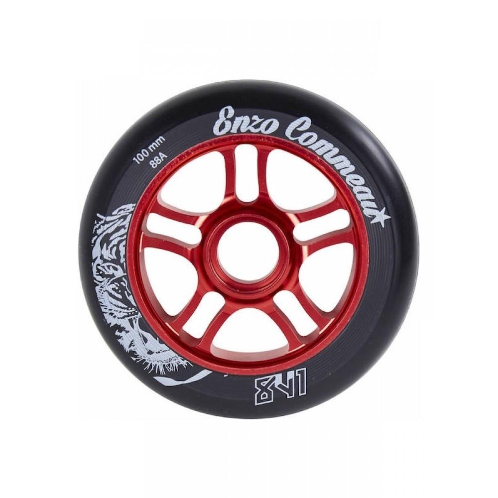 841 Enzo 100 mm hjul rød