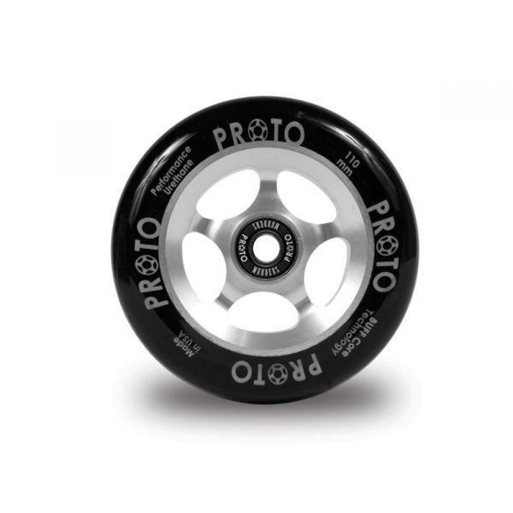 Proto Slider hjul sort PU-Sølv-31