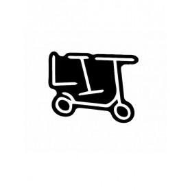 Black LIT sticker