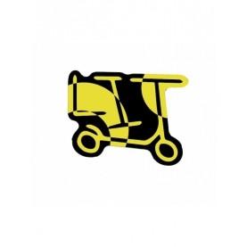 Yellow black LIT sticker